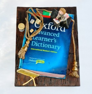 Oxford Dictionary cake