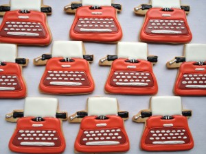 Typewriter cookies