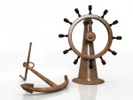 Anchor and steering wheel
