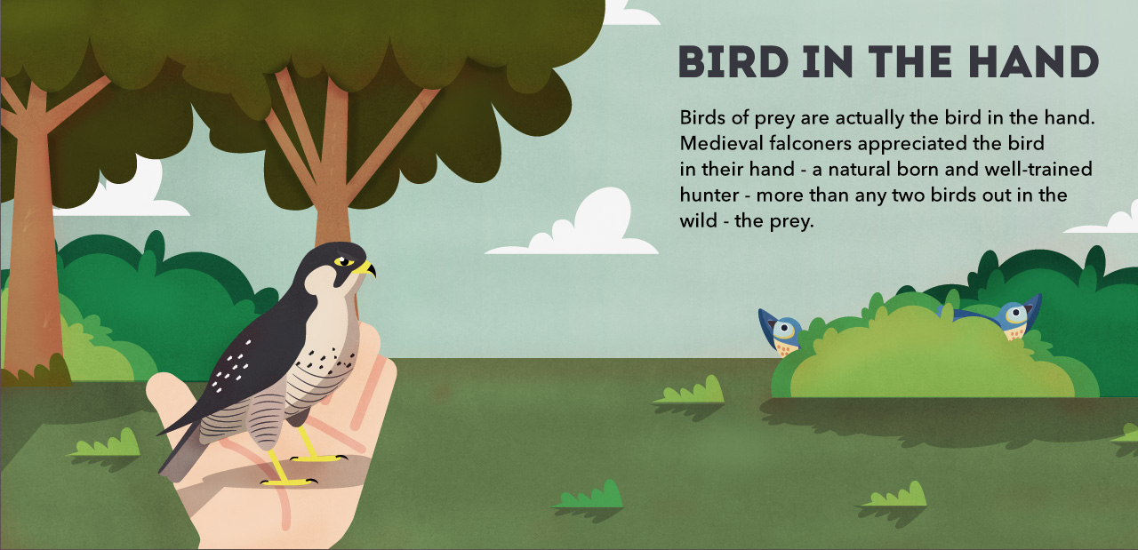 Financial idioms: a bird in the hand