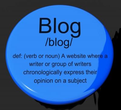 Blog definition button
