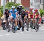 Cyclists in a cycle race
